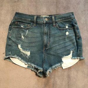 VS PINK • High Waisted Denim Shorts